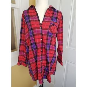 Victoria's Secret Plaid Cotton Sleepshirt